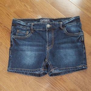 Silver Denium Shorts Girls Size 16 BNWOT